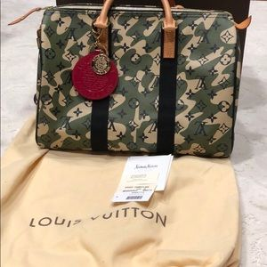 Louis Vuitton Camo Murakami 35 Speedy Rare